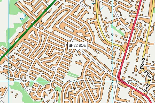 Parley First School map (BH22 8QE) - OS VectorMap District (Ordnance Survey)