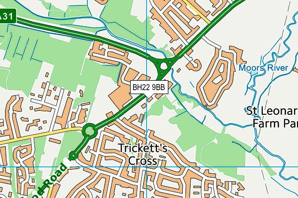 BH22 9BB map - OS VectorMap District (Ordnance Survey)