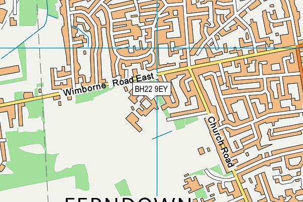 Ferndown Upper School map (BH22 9EY) - OS VectorMap District (Ordnance Survey)