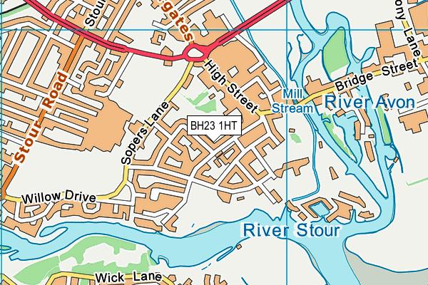 BH23 1HT map - OS VectorMap District (Ordnance Survey)