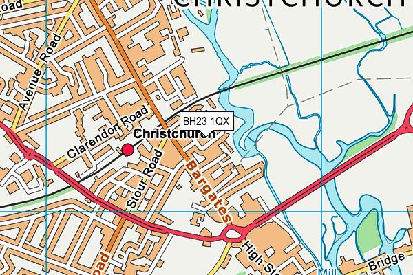 BH23 1QX map - OS VectorMap District (Ordnance Survey)