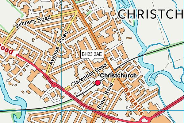 Christchurch Infant School map (BH23 2AE) - OS VectorMap District (Ordnance Survey)