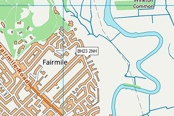 Twynham Primary School map (BH23 2NH) - OS VectorMap District (Ordnance Survey)