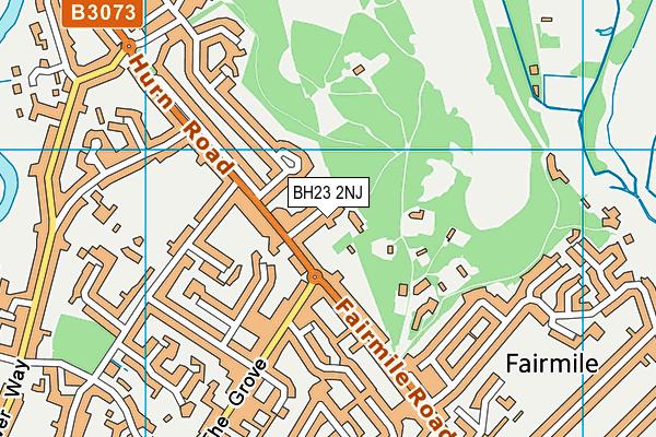 BH23 2NJ map - OS VectorMap District (Ordnance Survey)