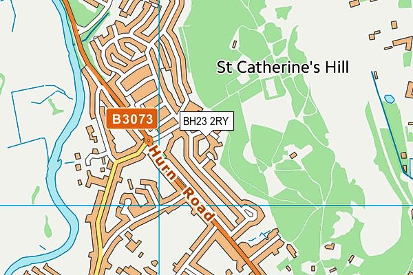 BH23 2RY map - OS VectorMap District (Ordnance Survey)