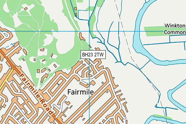 BH23 2TW map - OS VectorMap District (Ordnance Survey)