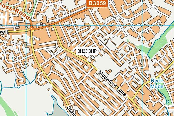 Mudeford Junior School map (BH23 3HP) - OS VectorMap District (Ordnance Survey)