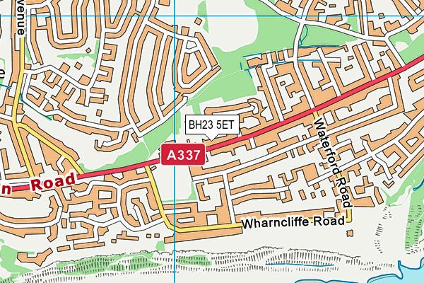 BH23 5ET map - OS VectorMap District (Ordnance Survey)