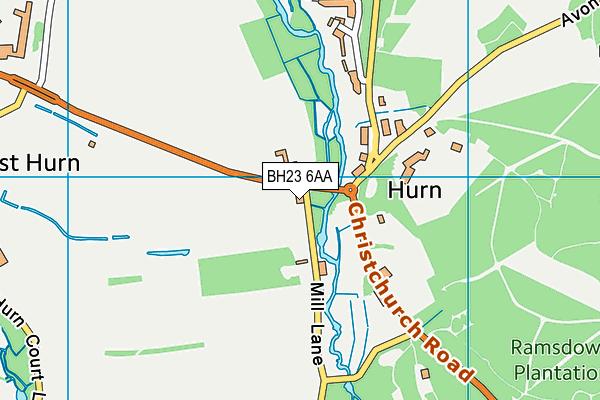 BH23 6AA map - OS VectorMap District (Ordnance Survey)