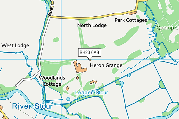 BH23 6AB map - OS VectorMap District (Ordnance Survey)