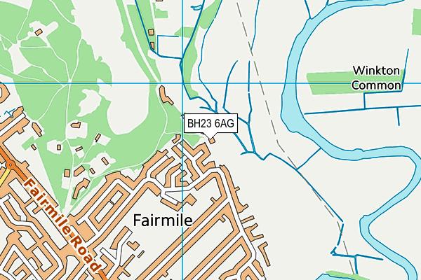 BH23 6AG map - OS VectorMap District (Ordnance Survey)