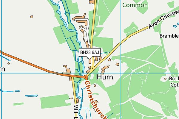 BH23 6AJ map - OS VectorMap District (Ordnance Survey)