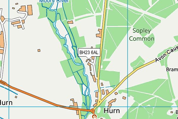 BH23 6AL map - OS VectorMap District (Ordnance Survey)