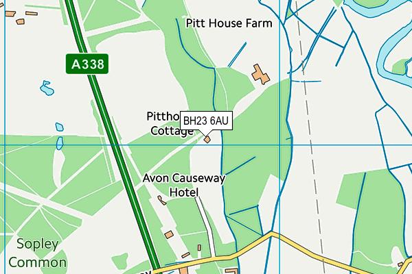 BH23 6AU map - OS VectorMap District (Ordnance Survey)