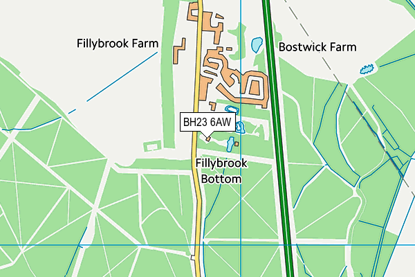 BH23 6AW map - OS VectorMap District (Ordnance Survey)