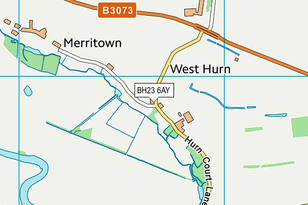 BH23 6AY map - OS VectorMap District (Ordnance Survey)