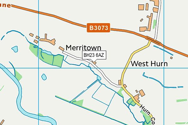 BH23 6AZ map - OS VectorMap District (Ordnance Survey)