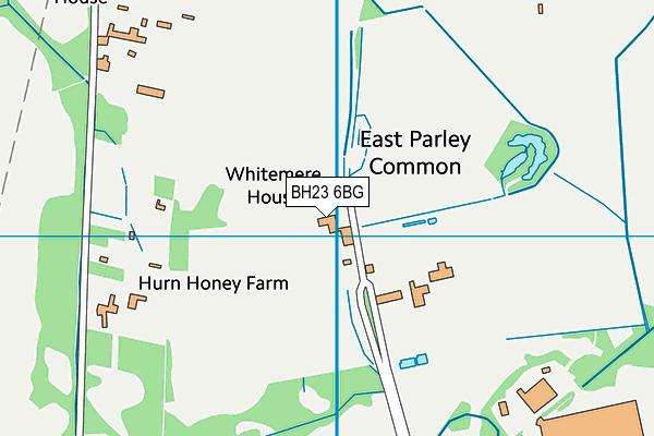 BH23 6BG map - OS VectorMap District (Ordnance Survey)