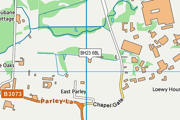 BH23 6BL map - OS VectorMap District (Ordnance Survey)