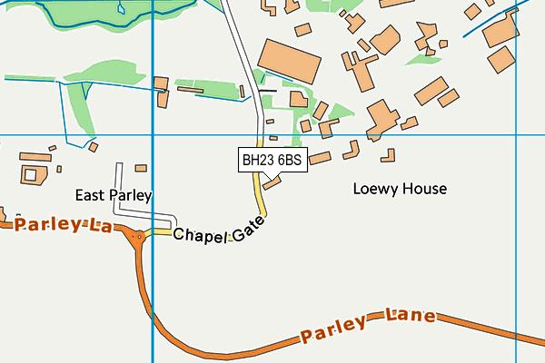 BH23 6BS map - OS VectorMap District (Ordnance Survey)