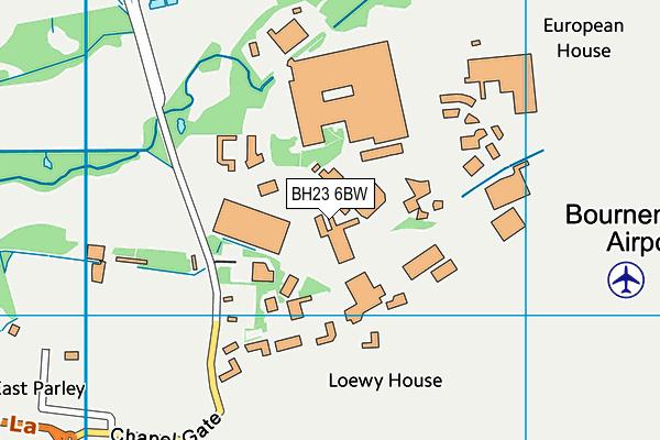 BH23 6BW map - OS VectorMap District (Ordnance Survey)