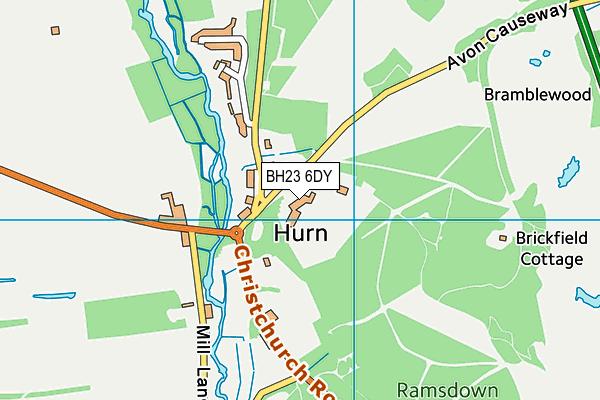 BH23 6DY map - OS VectorMap District (Ordnance Survey)