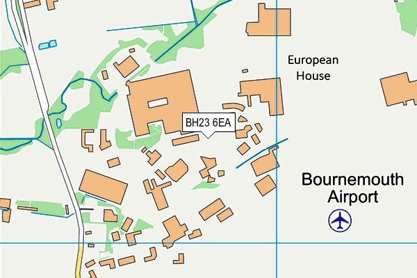 BH23 6EA map - OS VectorMap District (Ordnance Survey)