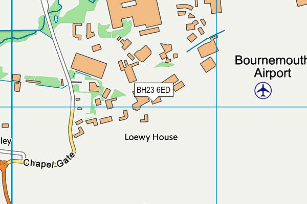 BH23 6ED map - OS VectorMap District (Ordnance Survey)