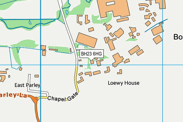 BH23 6HG map - OS VectorMap District (Ordnance Survey)