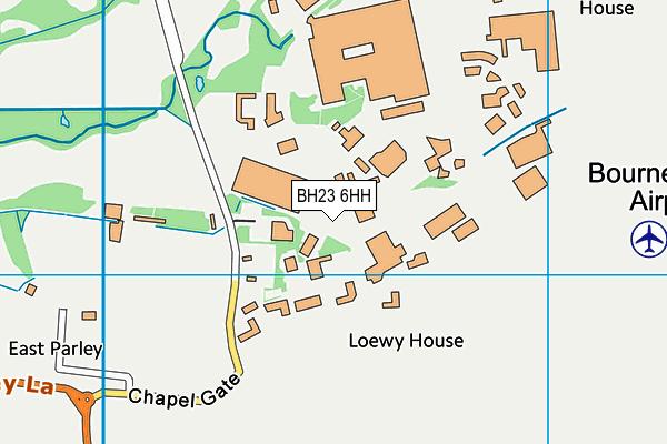BH23 6HH map - OS VectorMap District (Ordnance Survey)