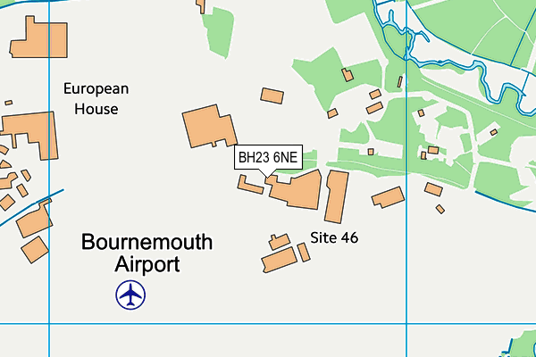 BH23 6NE map - OS VectorMap District (Ordnance Survey)