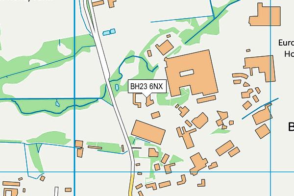 BH23 6NX map - OS VectorMap District (Ordnance Survey)