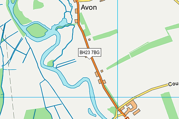 BH23 7BG map - OS VectorMap District (Ordnance Survey)
