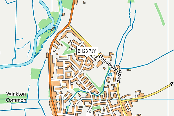 Burton Church of England Primary School map (BH23 7JY) - OS VectorMap District (Ordnance Survey)