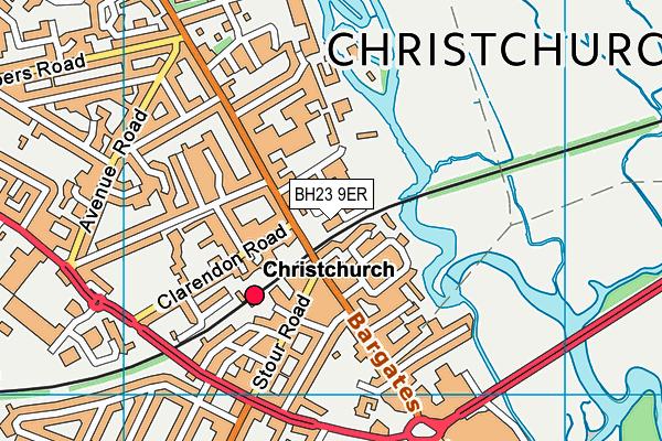 BH23 9ER map - OS VectorMap District (Ordnance Survey)