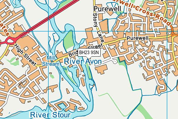 BH23 9SN map - OS VectorMap District (Ordnance Survey)