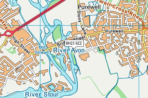 BH23 9ZZ map - OS VectorMap District (Ordnance Survey)
