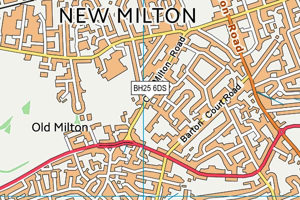 New Milton Junior School map (BH25 6DS) - OS VectorMap District (Ordnance Survey)