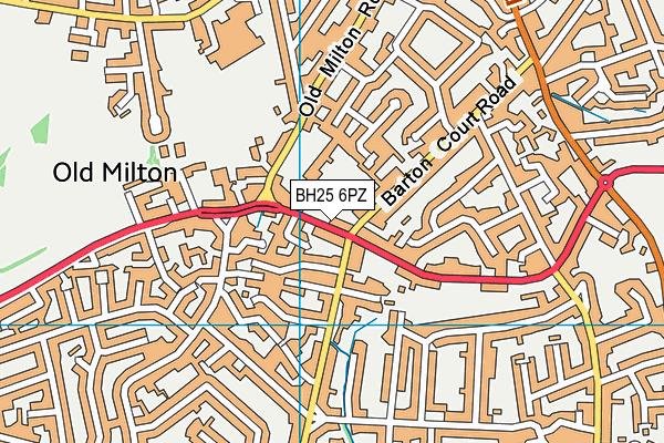 New Milton Infant School map (BH25 6PZ) - OS VectorMap District (Ordnance Survey)