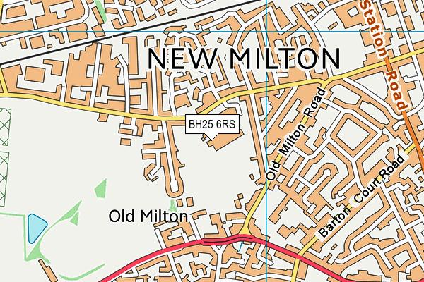 The Arnewood School map (BH25 6RS) - OS VectorMap District (Ordnance Survey)