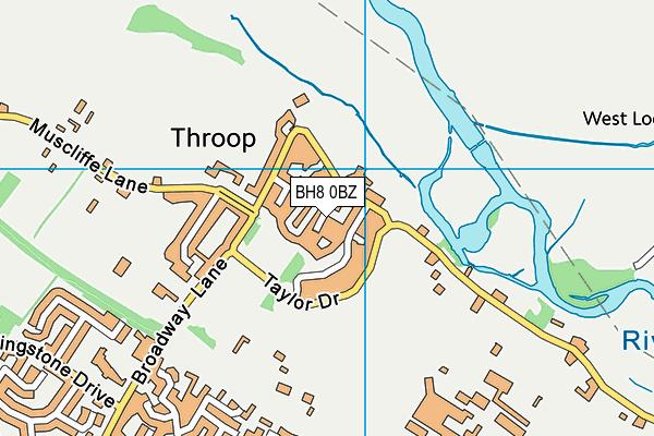 BH8 0BZ map - OS VectorMap District (Ordnance Survey)