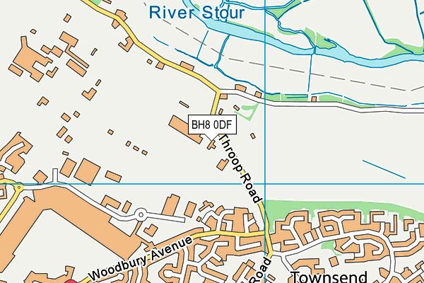BH8 0DF map - OS VectorMap District (Ordnance Survey)
