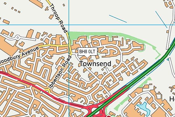 Townsend Community Centre map (BH8 0LT) - OS VectorMap District (Ordnance Survey)