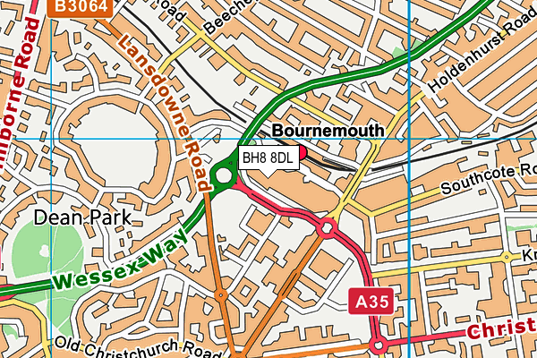 Better Gym Bournemouth map (BH8 8DL) - OS VectorMap District (Ordnance Survey)