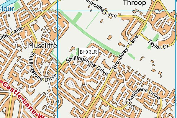 Muscliffe Park map (BH9 3LR) - OS VectorMap District (Ordnance Survey)