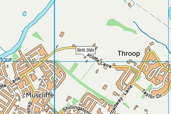 BH9 3NN map - OS VectorMap District (Ordnance Survey)