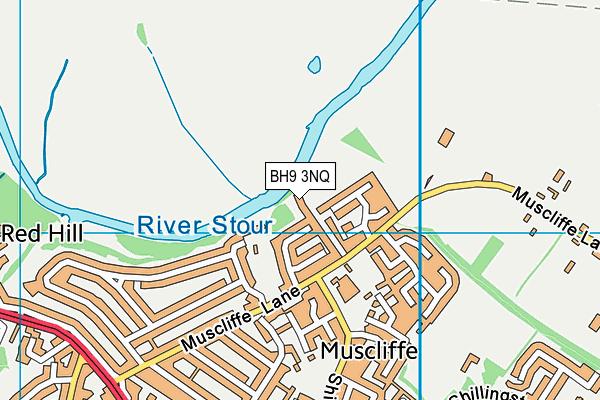 BH9 3NQ map - OS VectorMap District (Ordnance Survey)