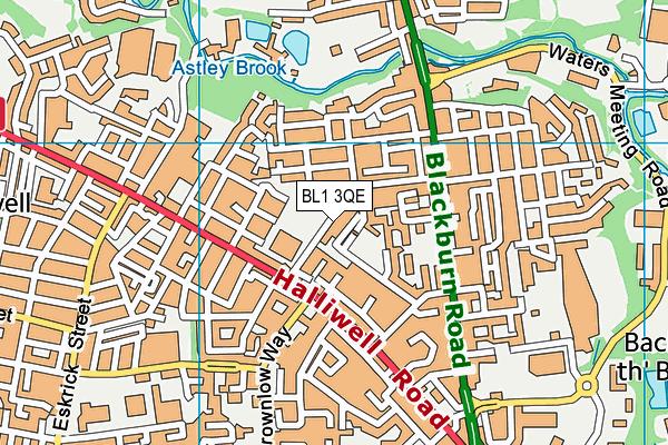 Eden Boys School (Bolton) map (BL1 3QE) - OS VectorMap District (Ordnance Survey)