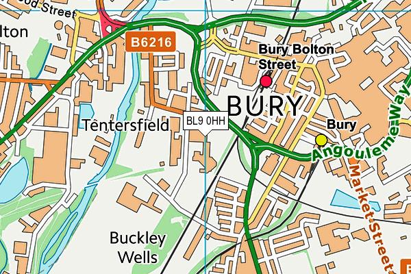 Bury Grammar School (Girls) map (BL9 0HH) - OS VectorMap District (Ordnance Survey)