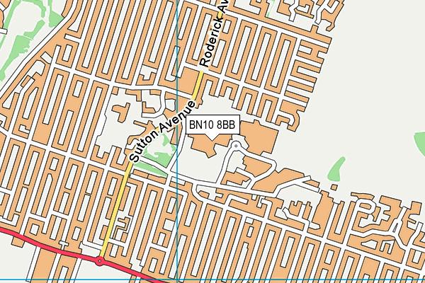 Peacehaven Leisure Centre map (BN10 8BB) - OS VectorMap District (Ordnance Survey)